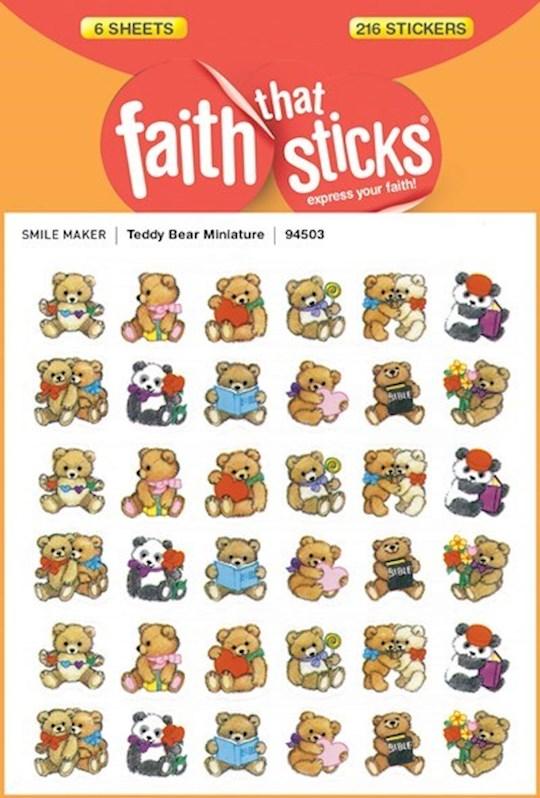 Sticker-Teddy Bear Miniature (6 Sheets) (Faith That Sticks) | SHOPtheWORD
