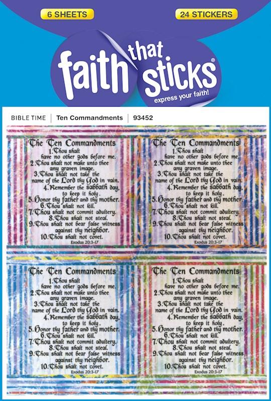 Sticker-Ten Commandments (6 Sheets) (Faith That Sticks) | SHOPtheWORD
