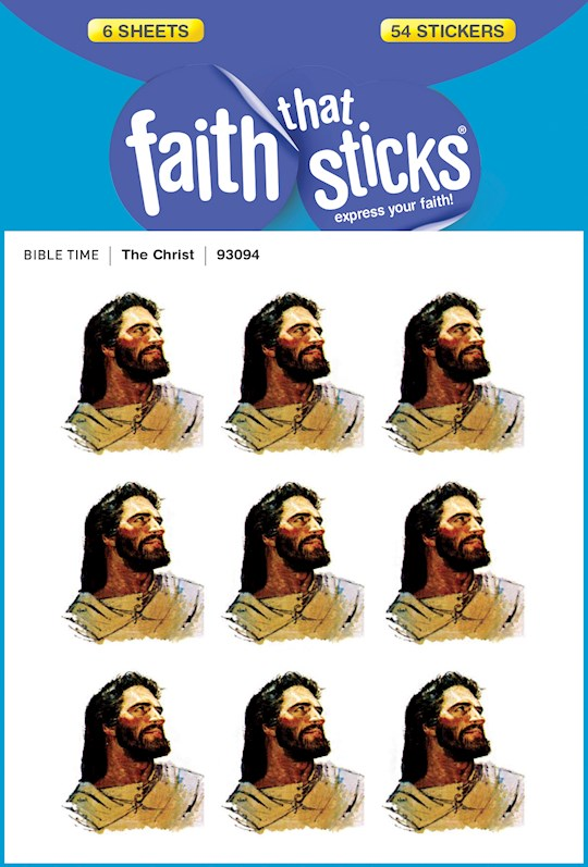Sticker-The Christ (6 Sheets) (Faith That Sticks) | SHOPtheWORD