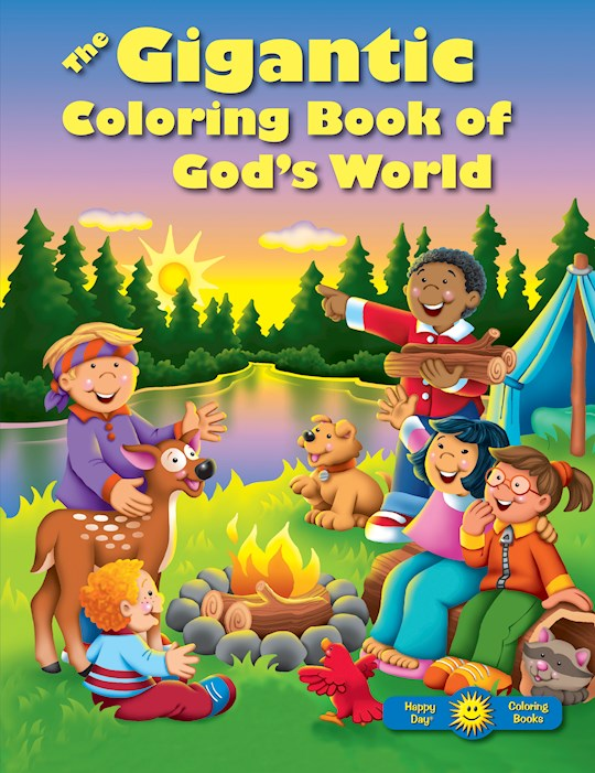 Coloring Book-The Gigantic Coloring Book Of Gods World (Happy Day) by Day Books Happy | SHOPtheWORD