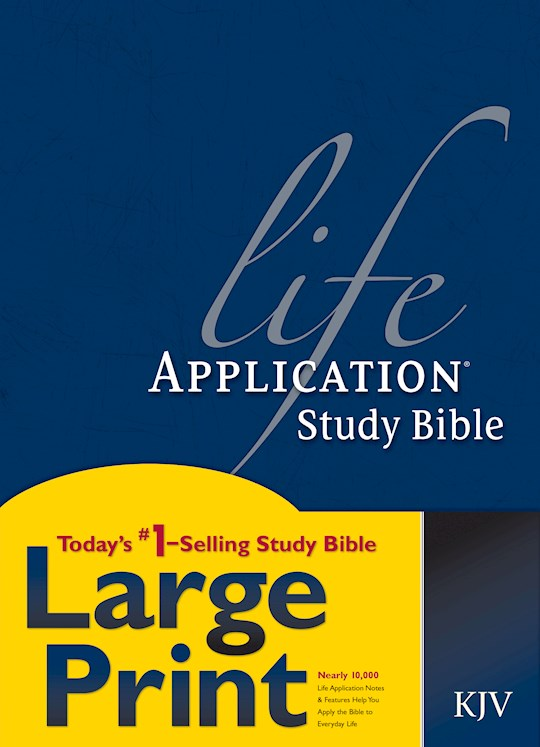 KJV Life Application Study Bible/Large Print-Hardcover | SHOPtheWORD