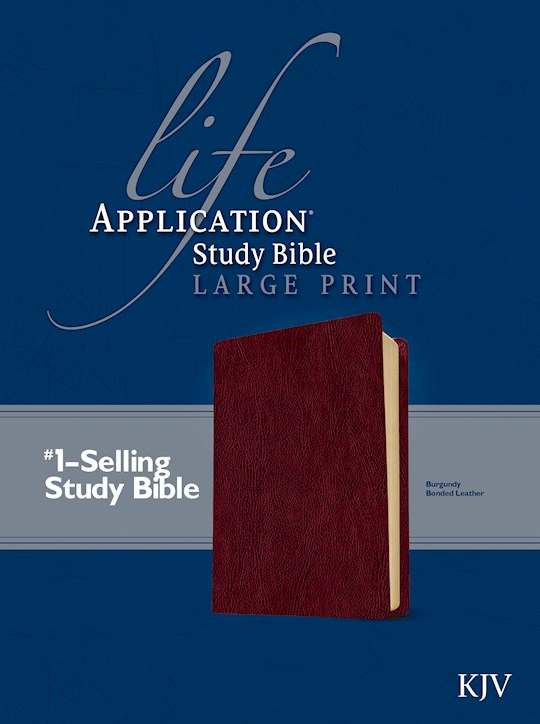 KJV Life Application Study Bible/Large Print-Burgundy Bonded Leather | SHOPtheWORD