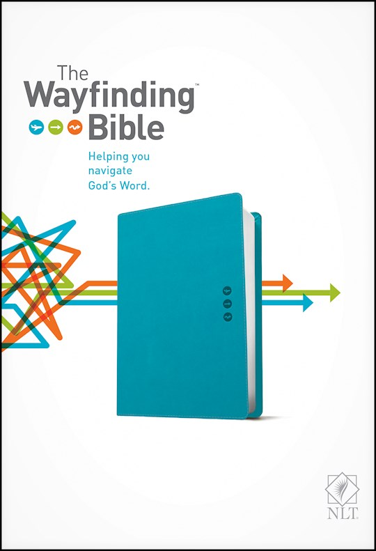 NLT Wayfinding Bible-Teal LeatherLike | SHOPtheWORD