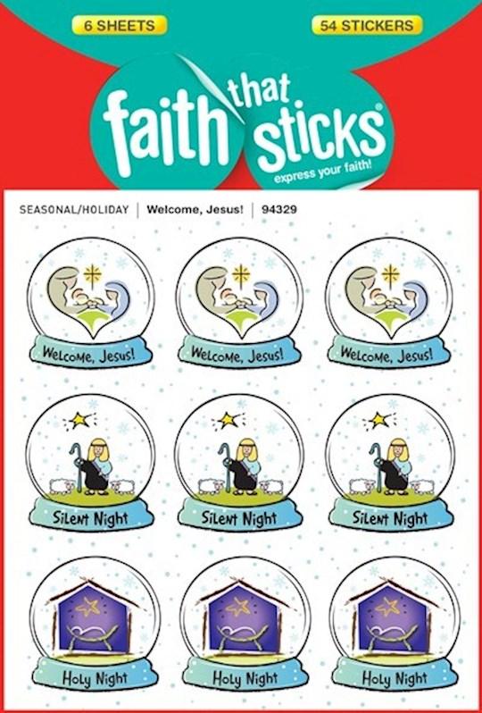 Sticker-Welcome Jesus (6 Sheets) (Faith That Sticks) | SHOPtheWORD