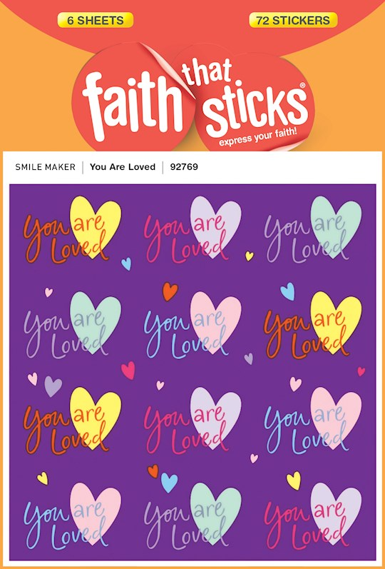 Sticker-You Are Loved (6 Sheets) (Faith That Sticks)   SHOPtheWORD