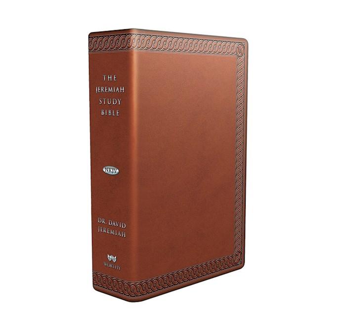 NKJV Jeremiah Study Bible-Brown Leatherluxe W/Burnished Edges  | SHOPtheWORD