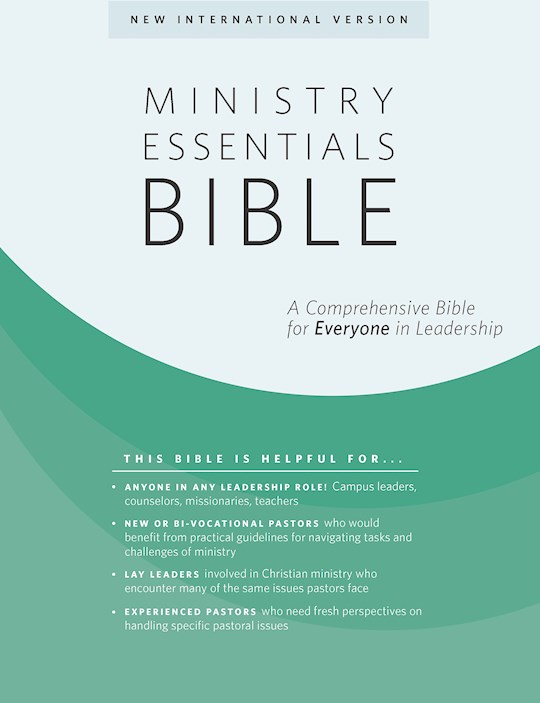NIV Ministry Essentials Bible-Black/Brown Flexisoft | SHOPtheWORD