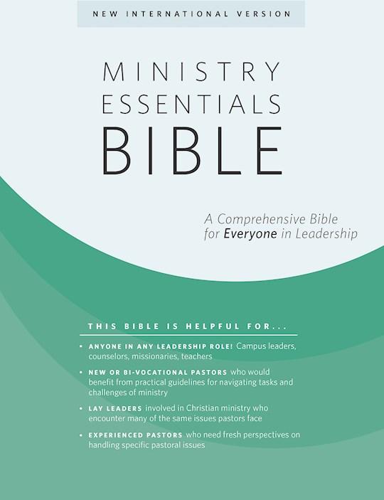 NIV Ministry Essentials Bible-Black/Brown Flexisoft | SHOPtheWORD