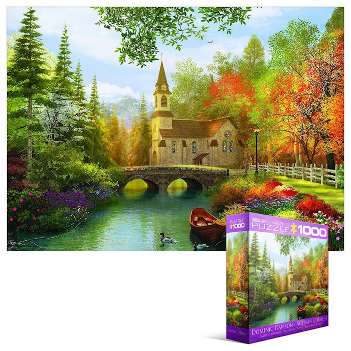 Puzzle-Autumn Church (1000 Pieces)  | SHOPtheWORD