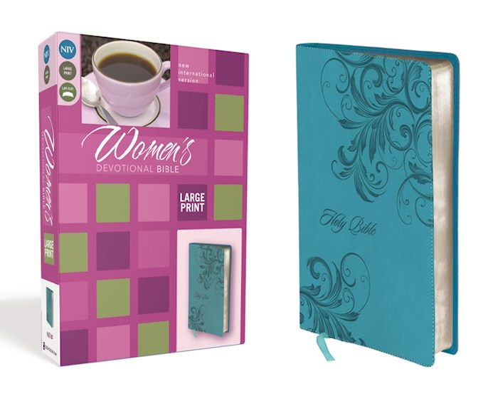 NIV Women's Devotional Bible/Large Print-Turquoise Duo-Tone | SHOPtheWORD