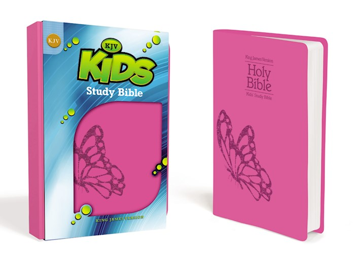 KJV Kids Study Bible-Fluttering Fuchsia Leather-Look | SHOPtheWORD
