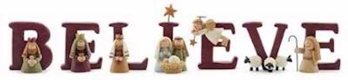 Nativity-B E L I E V E w/ Gift Box (Set Of 7 Letters) | SHOPtheWORD