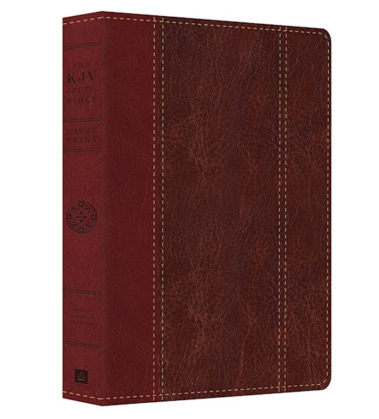 KJV Study Bible/Large Print-Red/Brown DiCarta | SHOPtheWORD