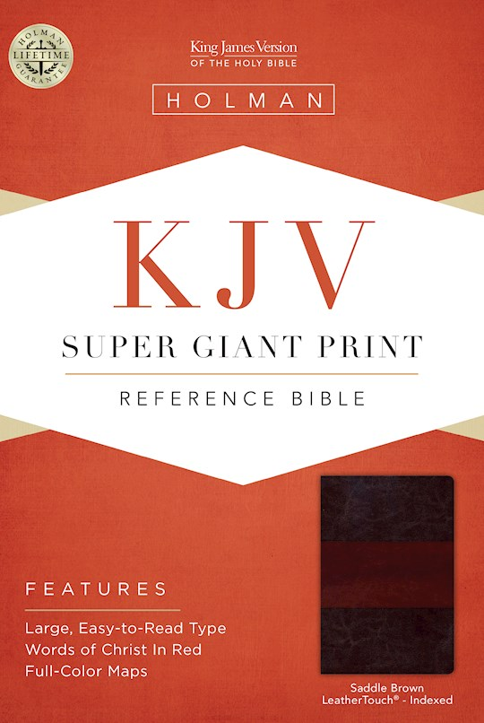 KJV Super Giant Print Reference Bible-Saddle Brown LeatherTouch Indexed | SHOPtheWORD