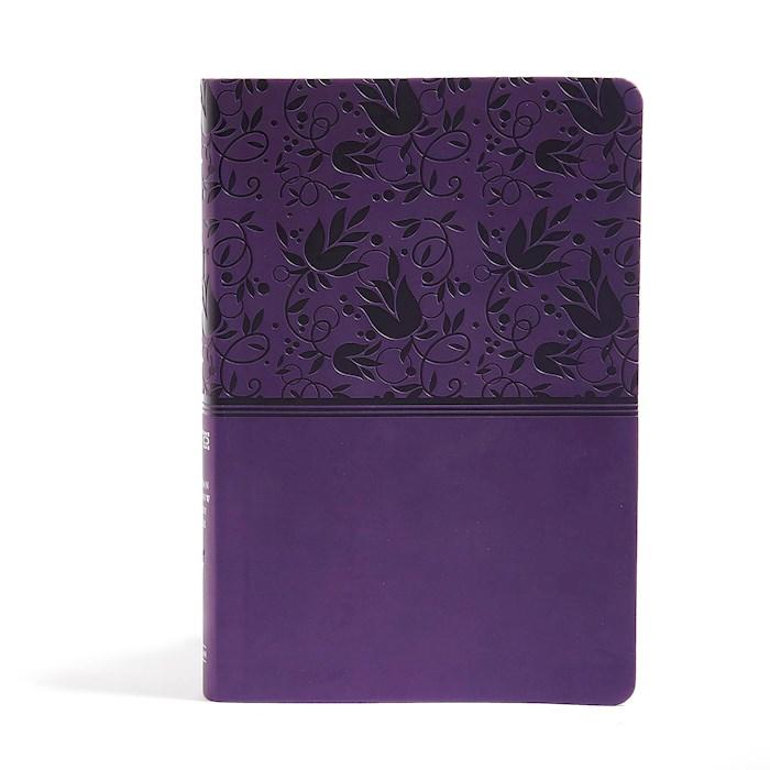 NIV Holman Rainbow Study Bible-Purple Leathertouch Indexed | SHOPtheWORD