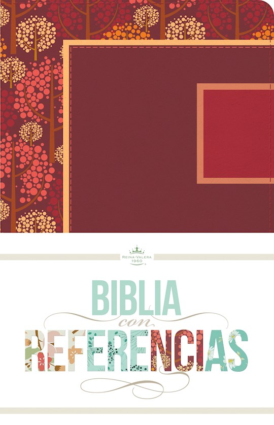 Span-RVR 1960 Four Seasons Bible w/References-Autumn Trees w/Raspberry & Rose LeatherTouch | SHOPtheWORD