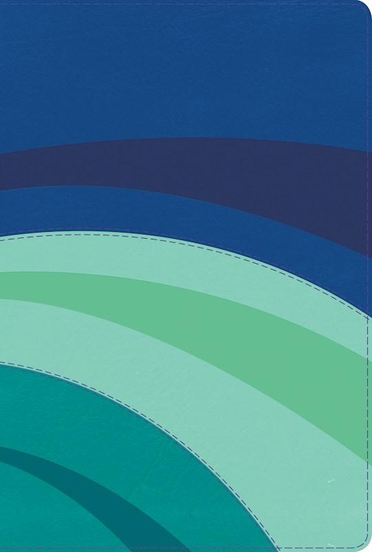 Span-RVR 1960 Rainbow Study Bible (Full Color)-Royal/Sky/Teal LeatherTouch  | SHOPtheWORD