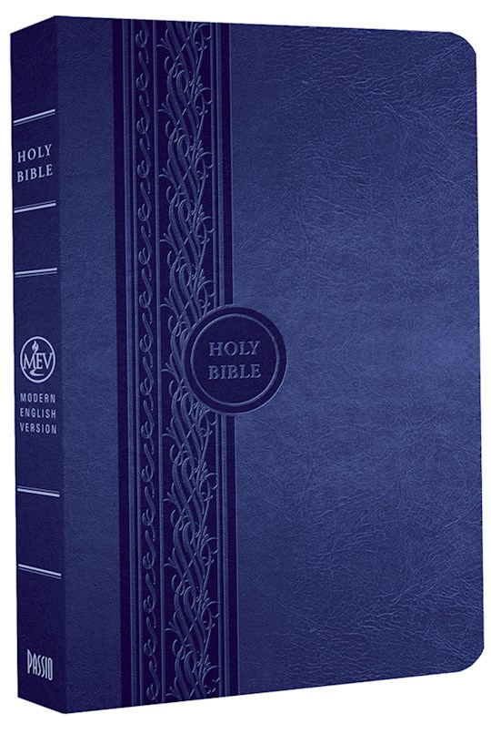 MEV Thinline Reference Bible-Blue LeatherLike | SHOPtheWORD