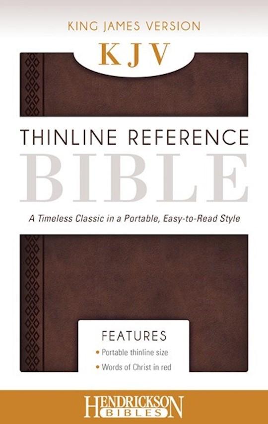 KJV Thinline Reference Bible-Chestnut Brown Flexisoft | SHOPtheWORD