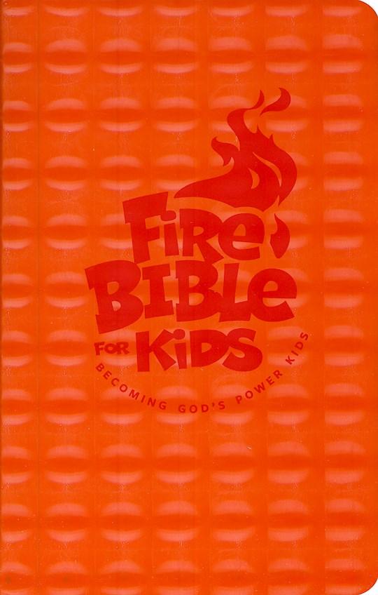 NKJV Fire Bible For Kids-Orange Flexisoft   SHOPtheWORD