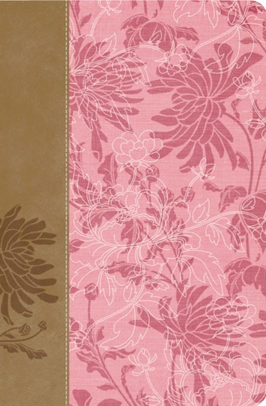 Span-RVR 1960 Womans Study Bible-Pink/Brown LeatherSoft (Biblia De Estudio Para La Mujer)    SHOPtheWORD
