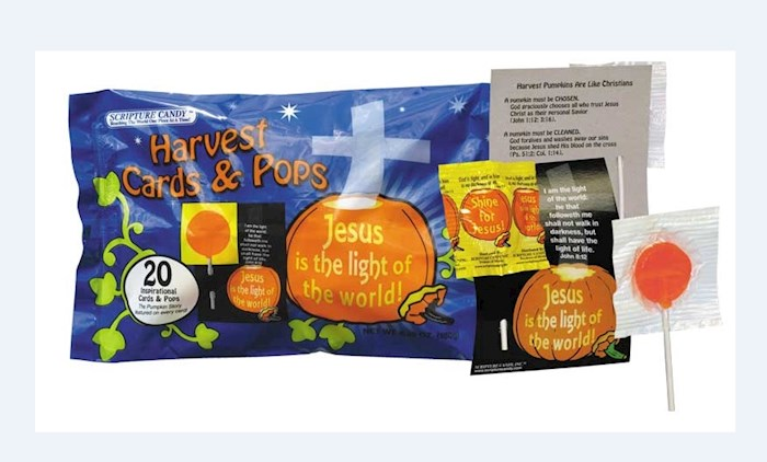 Candy-Scripture Harvest Cards & Pops (Pack Of 20) | SHOPtheWORD