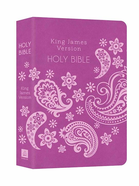 KJV Deluxe Gift & Award Bible-Purple DiCarta | SHOPtheWORD