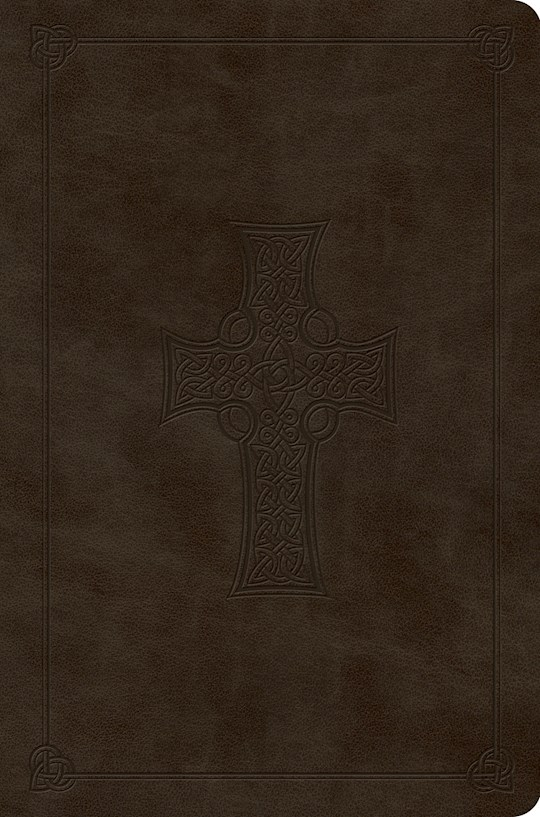 ESV Value Compact Bible-Olive Celtic Cross Design TruTone | SHOPtheWORD