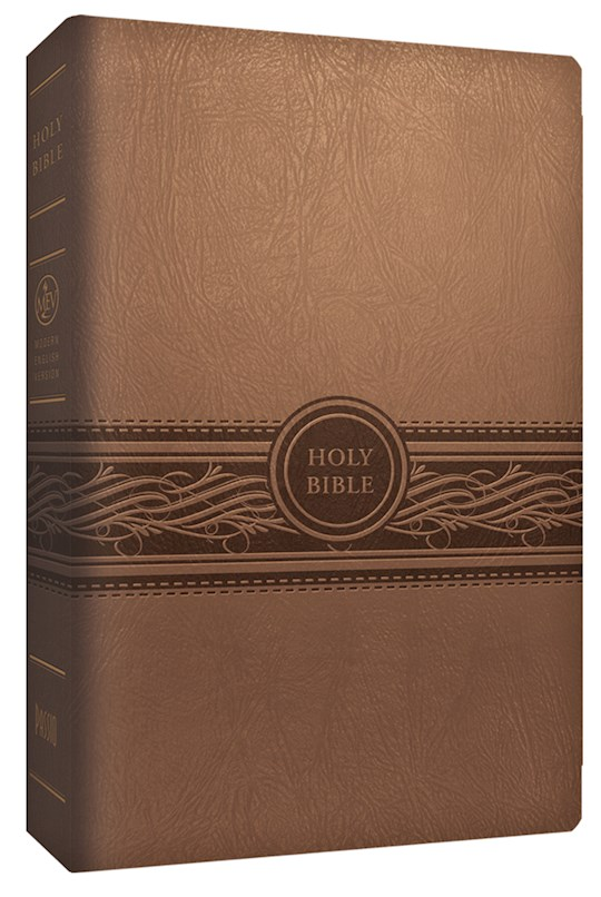 MEV Personal Size Large Print Bible-Tan LeatherLike | SHOPtheWORD