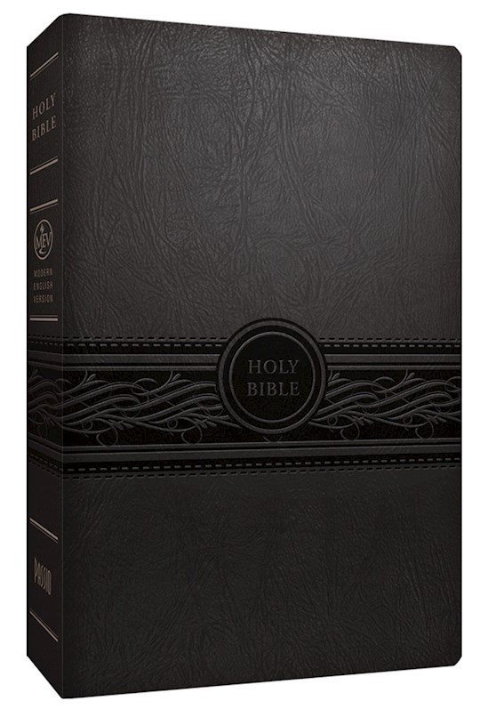 MEV Personal Size Large Print Bible-Charcoal LeatherLike | SHOPtheWORD