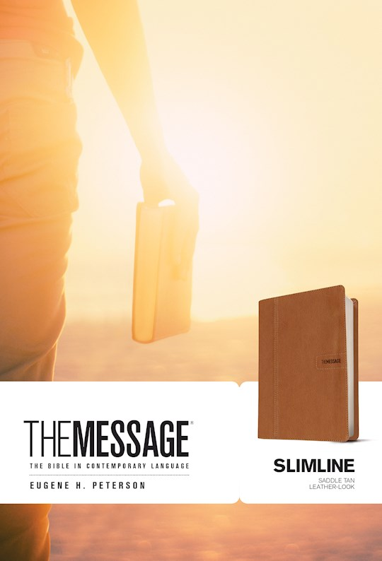 The Message Slimline Bible-Saddle Brown LeatherLook | SHOPtheWORD