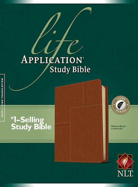 NLT Life Application Study Bible-Midtown Brown LeatherLike Indexed | SHOPtheWORD