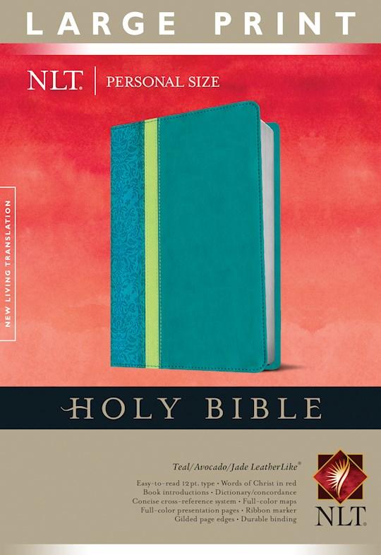 NLT Personal Size Large Print Bible-Teal Avocado/Jade TuTone | SHOPtheWORD
