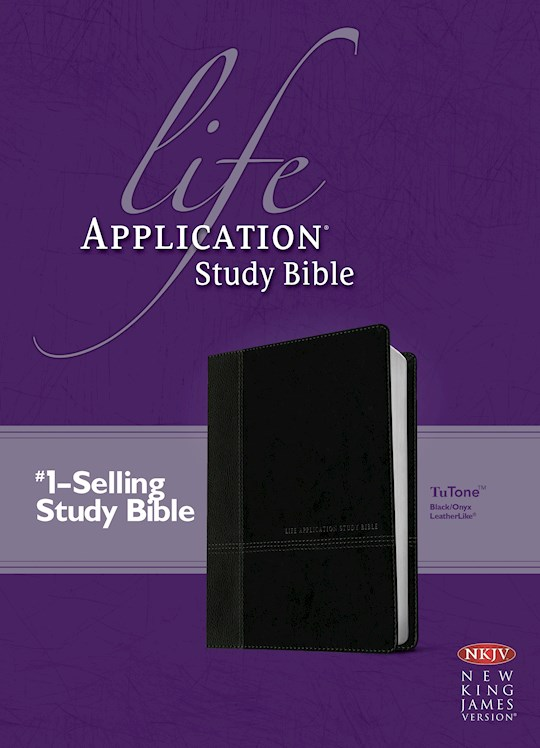 NKJV Life Application Study Bible-Black/Onyx TuTone | SHOPtheWORD