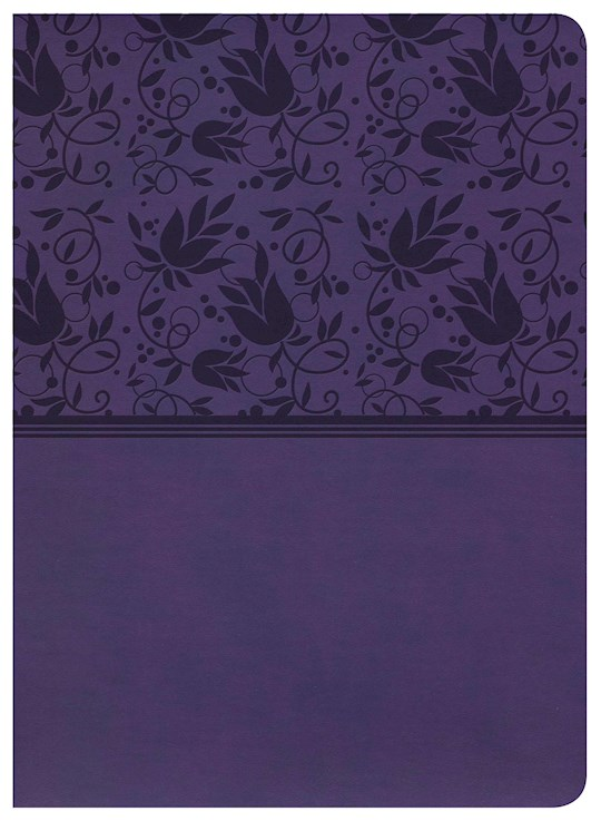 NKJV Holman Study Bible (Full Color)-Purple LeatherTouch  | SHOPtheWORD