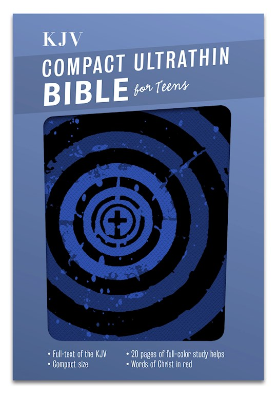 KJV Compact Ultrathin Bible For Teens-Blue Vortex LeatherTouch   SHOPtheWORD