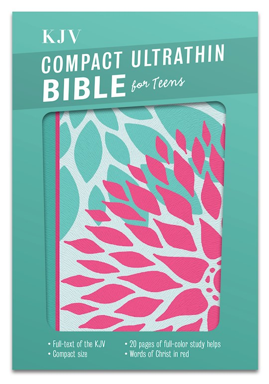 KJV Compact Ultrathin Bible For Teens-Green Blossom LeatherTouch | SHOPtheWORD