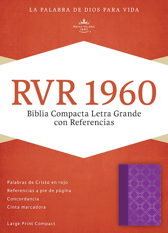 Span-RVR 1960 Large Print Compact Reference Bible-Violet LeatherTouch  | SHOPtheWORD