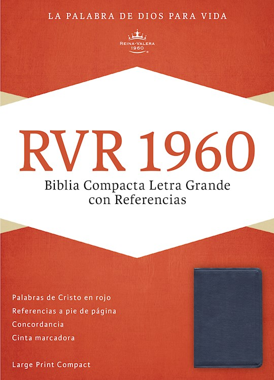 Span-RVR 1960 Large Print Compact Reference Bible (Biblia Compacta Letra Grande)-Sapphire Blue LeatherTouch  | SHOPtheWORD