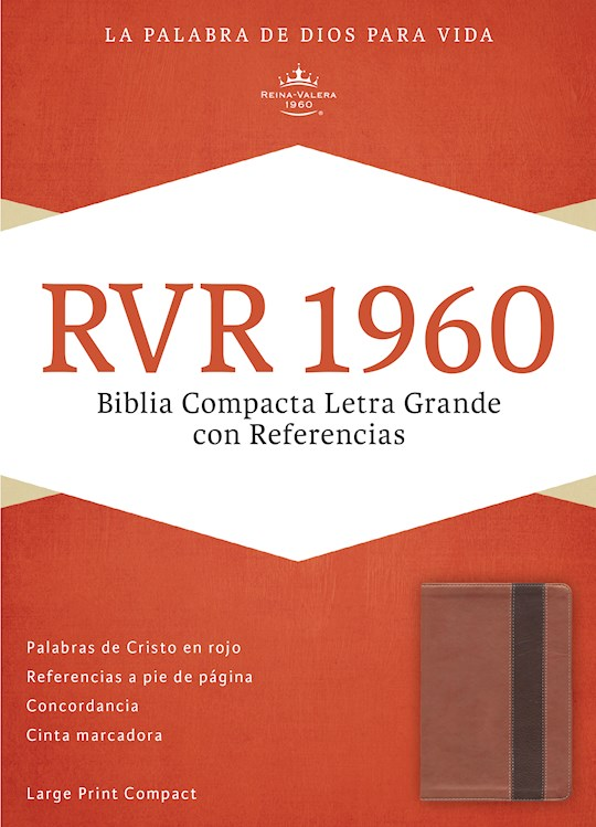Span-RVR 1960 Large Print Compact Reference Bible-Copper/Deep Brown LeatherTouch  | SHOPtheWORD