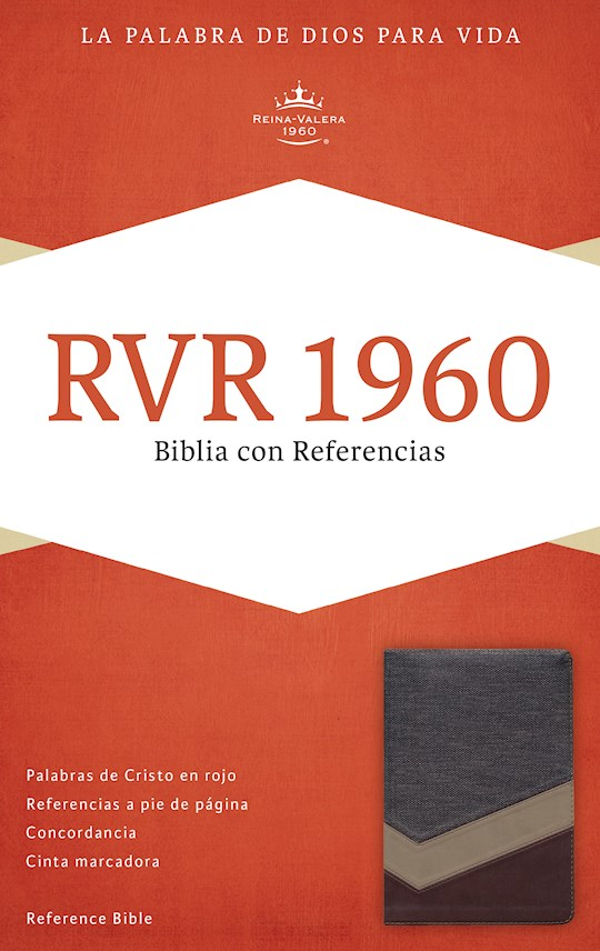Span-RVR 1960 Reference Bible (Biblia Con Referencias)-Brown/Tan/Bronze LeatherTouch | SHOPtheWORD