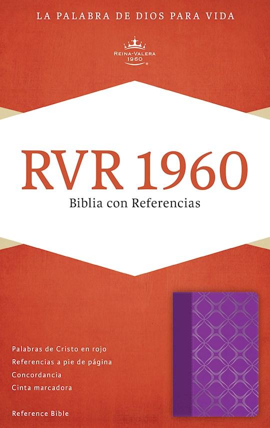 Span-RVR 1960 Reference Bible-Violet w/Silver Motif LeatherTouch (Biblia Con Referencias)  | SHOPtheWORD