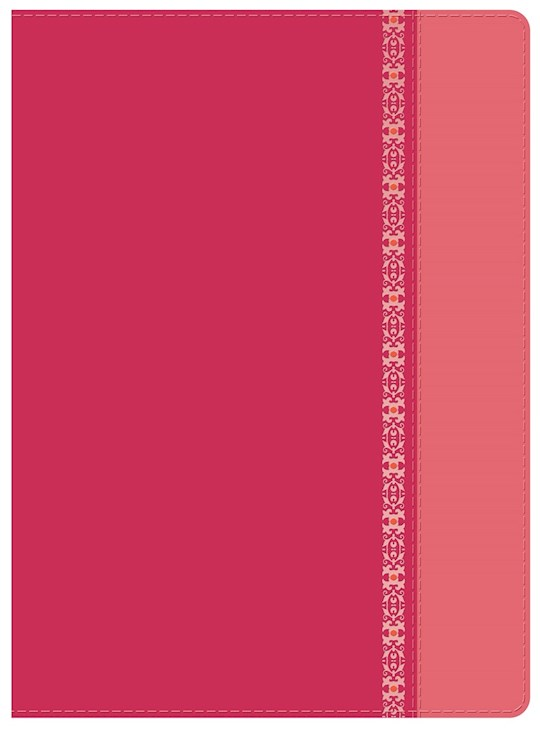 Span-RVR 1960 Holman Study Bible (Full Color)-Fuchsia/Rose w/Filigree LeatherTouch  | SHOPtheWORD