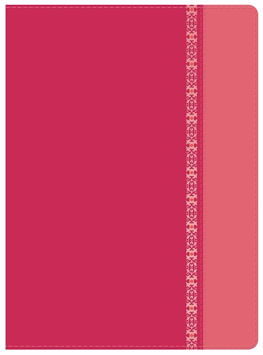 Span-RVR 1960 Holman Study Bible (Full Color)-Fuchsia/Rose w/Filigree LeatherTouch Indexed  (Not Available-Out Of Print) | SHOPtheWORD