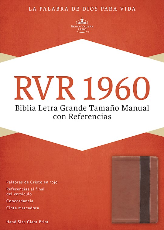 Span-RVR 1960 Hand Size Giant Print Bible-Copper/Dark Brown LeatherTouch  | SHOPtheWORD