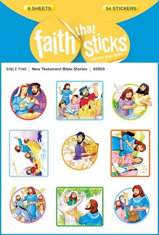 Sticker-New Testament Bible Stories (6 Sheets) (Faith That Sticks)   SHOPtheWORD
