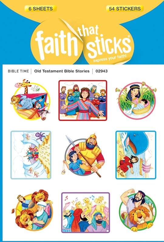 Sticker-Old Testament Bible Stories (6 Sheets) (Faith That Sticks) | SHOPtheWORD