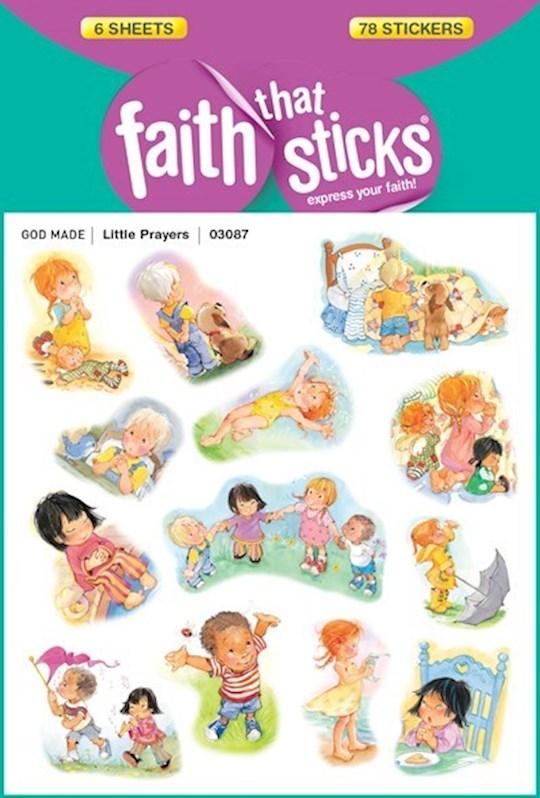 Sticker-Little Prayers (6 Sheets) (Faith That Sticks) | SHOPtheWORD