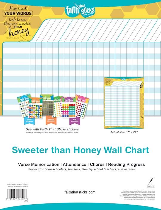Chart-Faith That Sticks Sweeter Than Honey Achievement Wall Chart | SHOPtheWORD