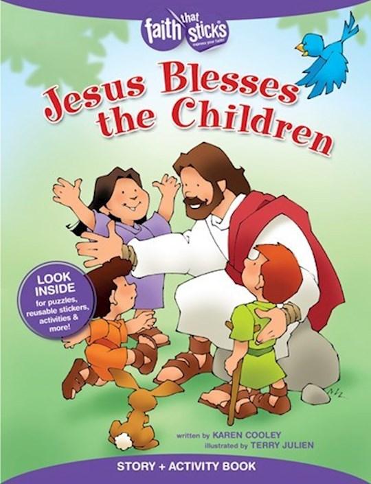 Jesus Blesses The Children Activity Book  (Faith That Sticks) by That Sticks Faith | SHOPtheWORD